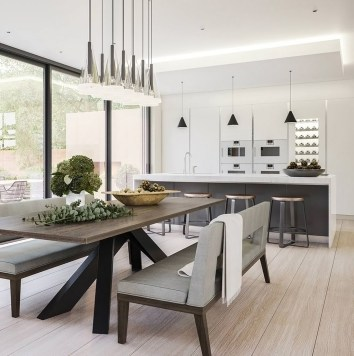 Amazing contemporary dining room decorating ideas 47