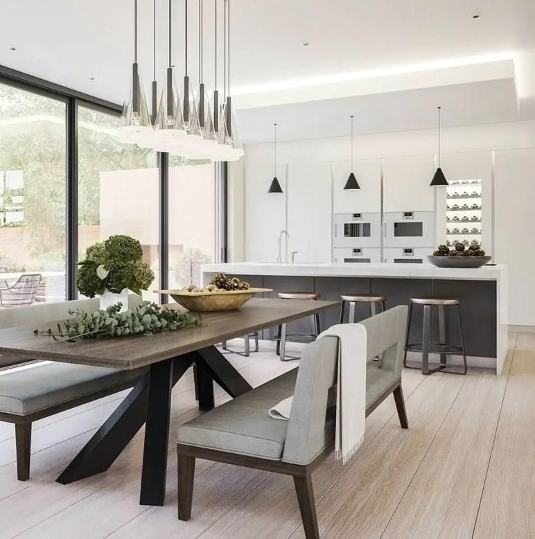 Amazing contemporary dining room decorating ideas 47