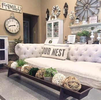 Awesome country farmhouse decor living room ideas 12