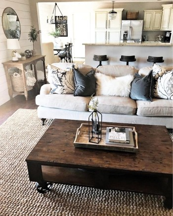 Awesome country farmhouse decor living room ideas 15