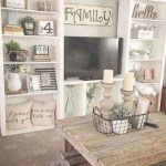Awesome country farmhouse decor living room ideas 21