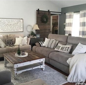 Awesome country farmhouse decor living room ideas 25