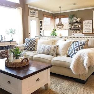 Awesome country farmhouse decor living room ideas 37