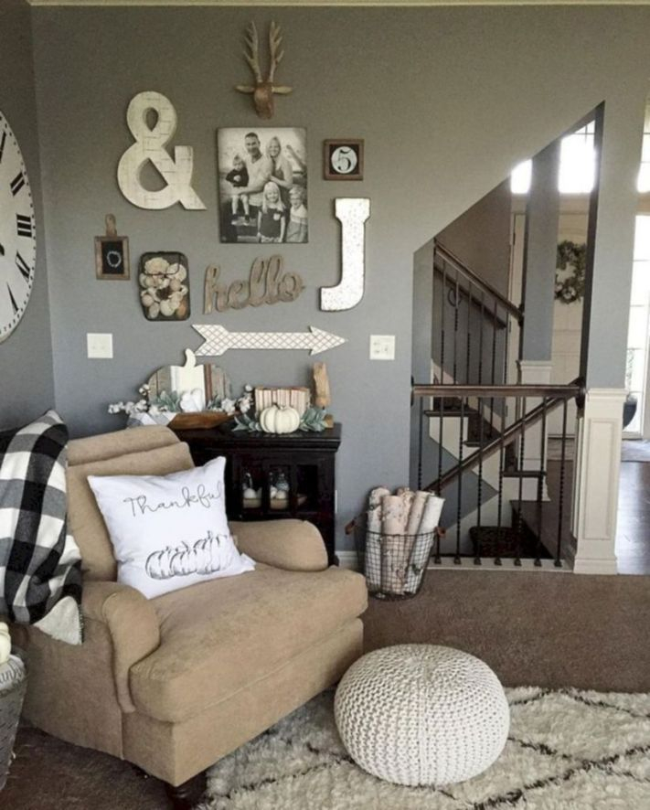 Awesome country farmhouse decor living room ideas 41
