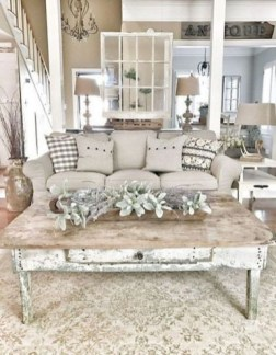 Awesome country farmhouse decor living room ideas 44