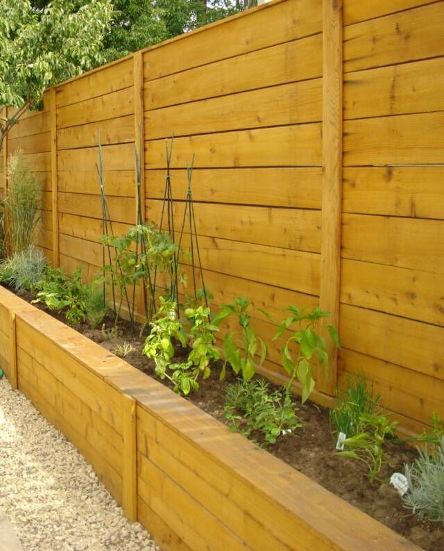 Beautiful yet functional privacy fence planter boxes ideas 08
