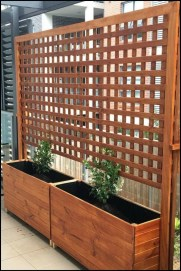Beautiful yet functional privacy fence planter boxes ideas 39