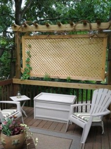 Beautiful yet functional privacy fence planter boxes ideas 49