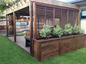 Beautiful yet functional privacy fence planter boxes ideas 50