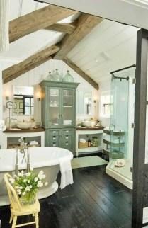 Cozy master bathroom decor ideas 26