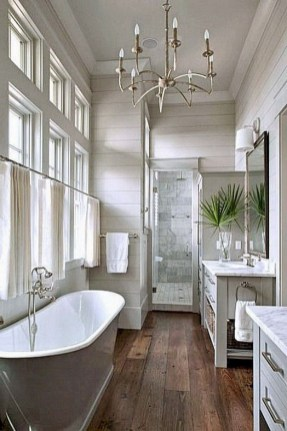 Cozy master bathroom decor ideas 50