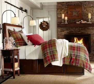 Cozy and beautiful bedroom for winter decor ideas 16