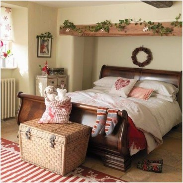 Cozy and beautiful bedroom for winter decor ideas 30