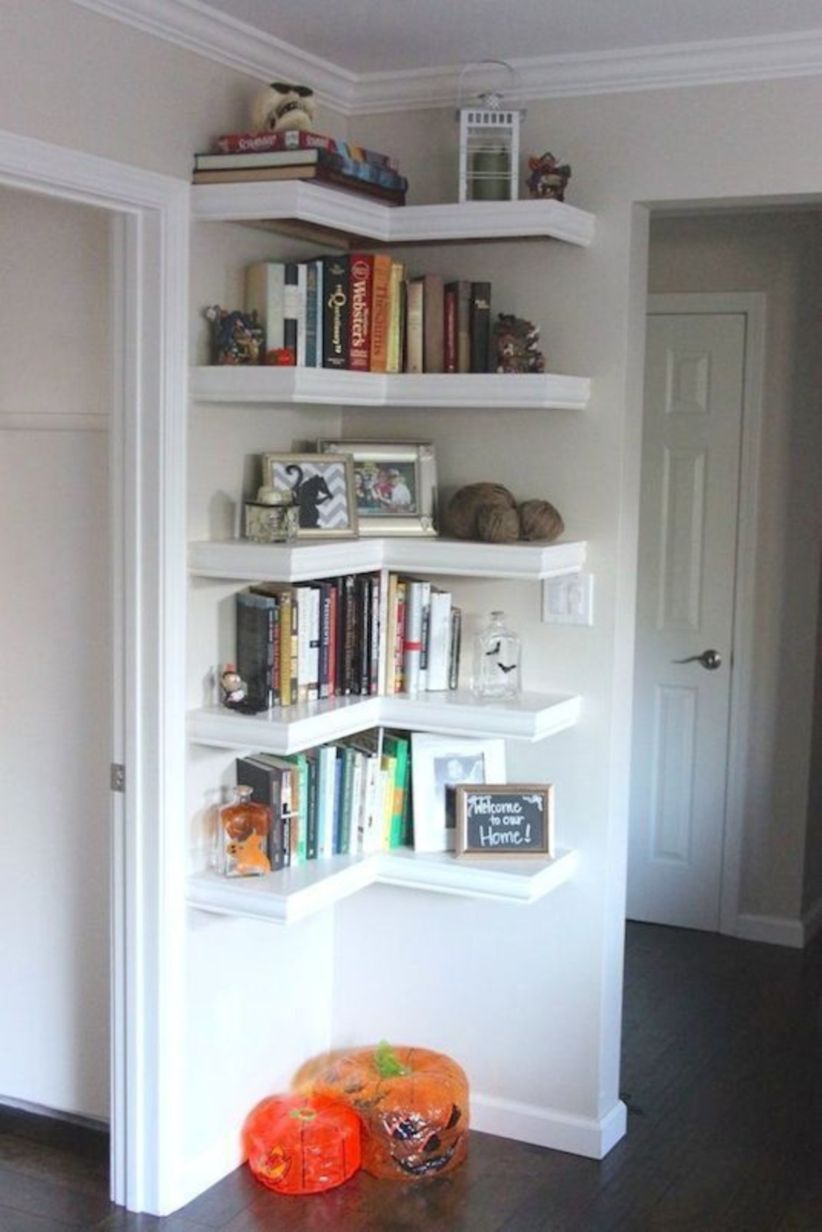Corner shelves that change home decor become more beautiful 28