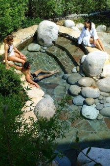 Design a fish pond garden with a waterfall concept 22