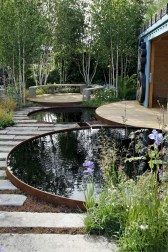 Design a fish pond garden with a waterfall concept 31