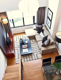 Design a living room in a small space that remains comfortablel 14