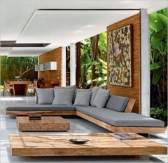 The design of the living room looks luxurious 15