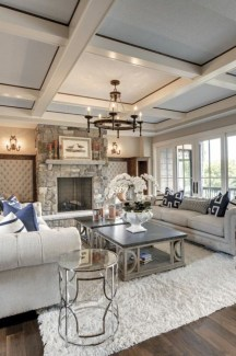 The design of the living room looks luxurious 32