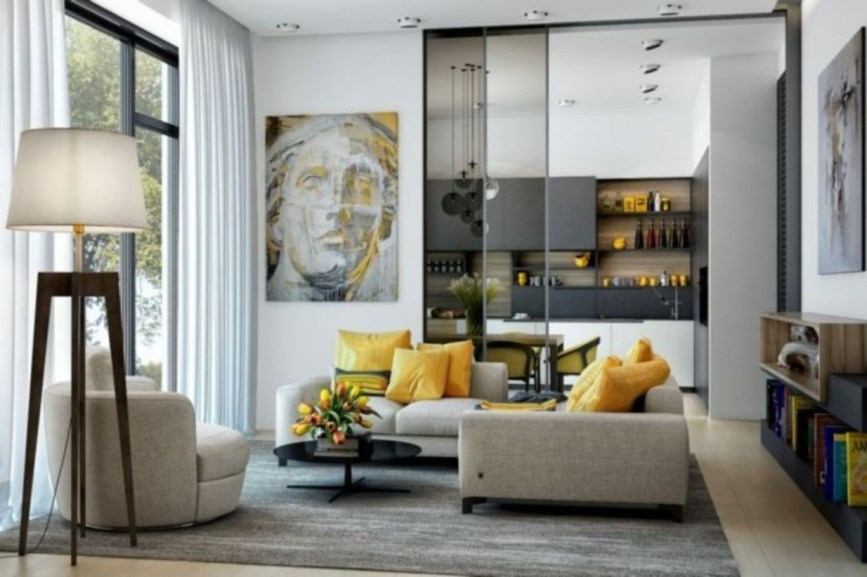 The design of the living room looks luxurious 38
