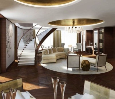 The design of the living room looks luxurious 46