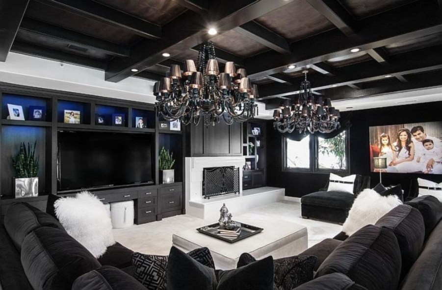The design of the living room looks luxurious 50