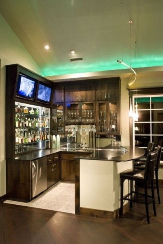 Amazing mini bar design ideas that you can copy right now 20