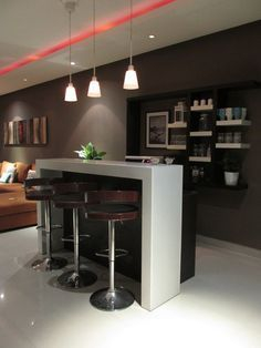 Amazing mini bar design ideas that you can copy right now 33