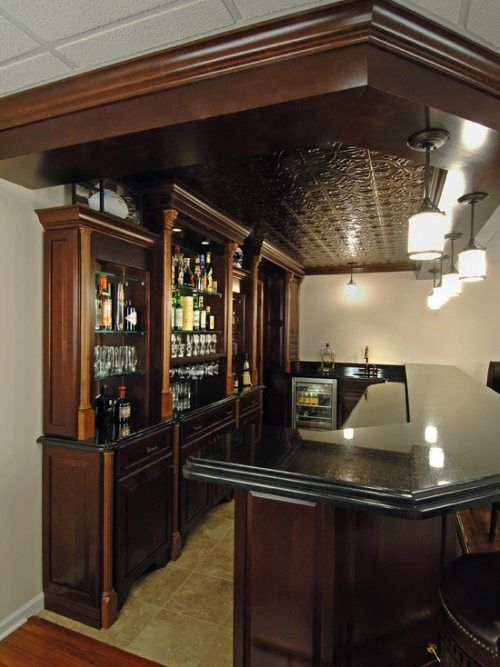 Amazing mini bar design ideas that you can copy right now 47