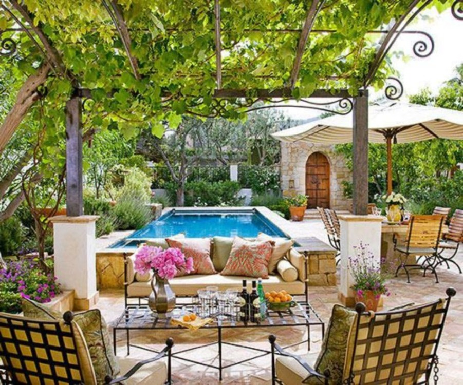 Backyard design for small areas that remain comfortable to relax 06