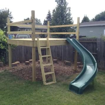 Backyard design ideas with children's slides 10