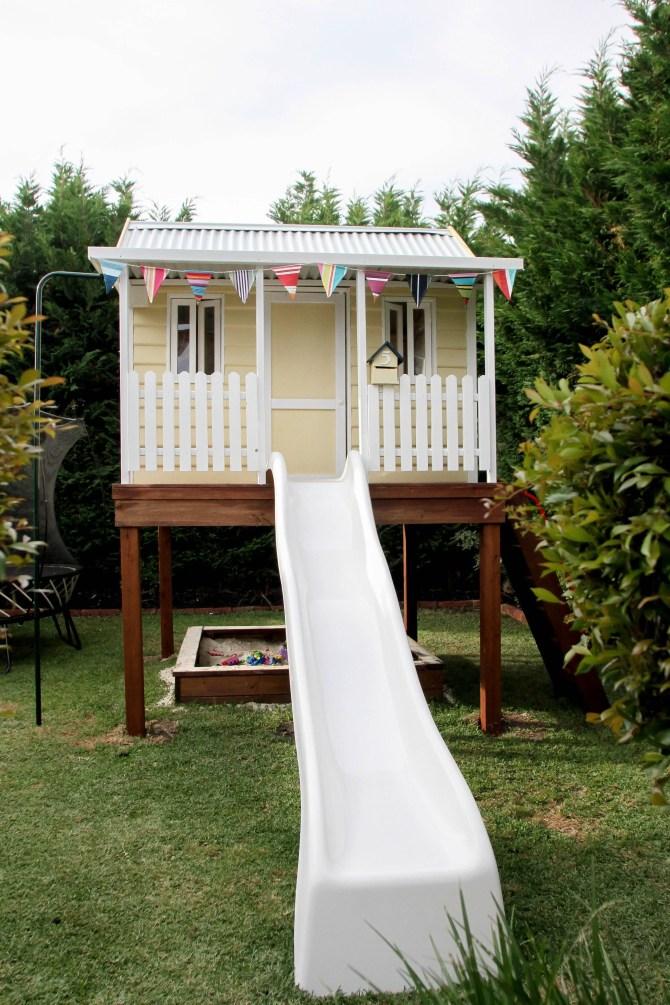 Backyard design ideas with children's slides 15