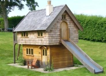 Backyard design ideas with children's slides 16