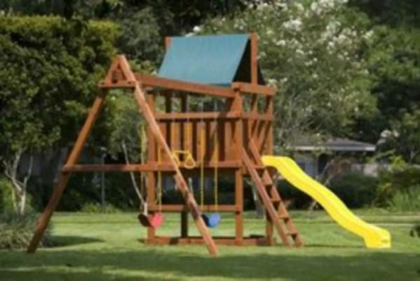 Backyard design ideas with children's slides 40
