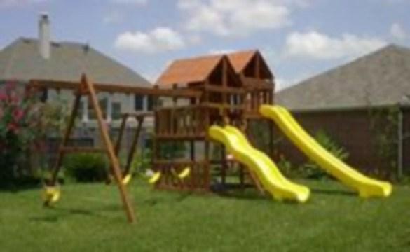 Backyard design ideas with children's slides 41