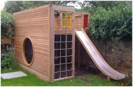 Backyard design ideas with children's slides 42