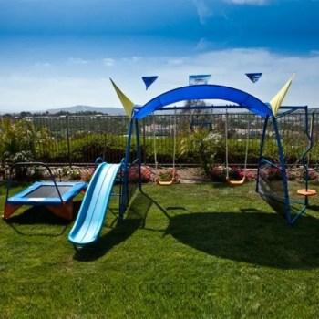 Backyard design ideas with children's slides 44