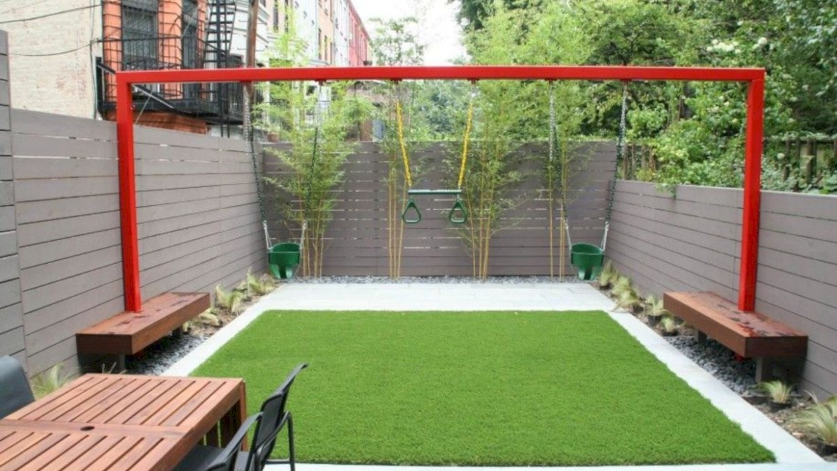 46 Fresh House Design Ideas with grass in the Garden