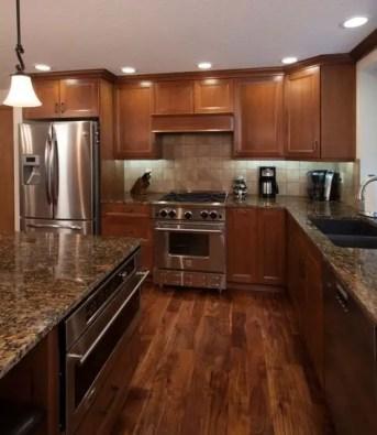 Kitchen floor design with the best motives 24
