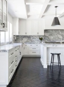 Kitchen floor design with the best motives 38