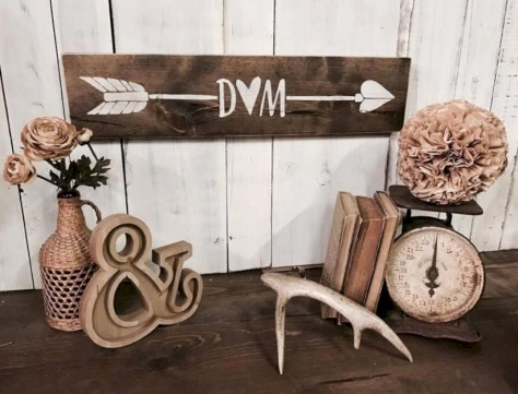Rustic home decoration diy that you can try 07