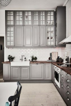 Rustic kitchen cabinet design ideas are very popular this year 06