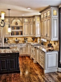 Rustic kitchen cabinet design ideas are very popular this year 12
