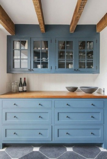 Rustic kitchen cabinet design ideas are very popular this year 20