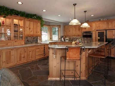 Rustic kitchen cabinet design ideas are very popular this year 21