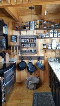 Rustic kitchen cabinet design ideas are very popular this year 30