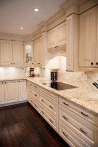 Rustic kitchen cabinet design ideas are very popular this year 35