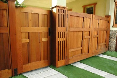 The best fence wooden design that you can try in your home 23