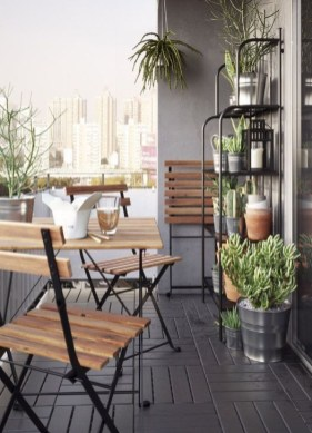 Beauty view design ideas for balcony apartment that make you cozy 25