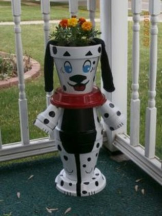 Flower pot decoration ideas that you can try in your home 17